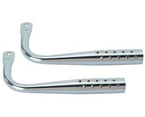 Lowrider Chrome Steel W/Holes Mufflers