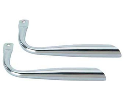 Lowrider Chrome Steel Oblique W/O Holes Mufflers