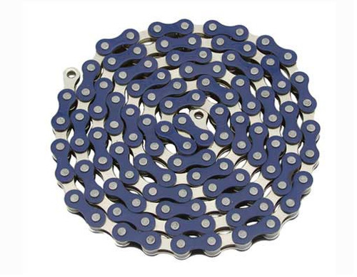 Fixed Gear Chrome/Blue Steel YBN Chains 1/2x1/8x112