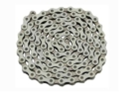 Fixed Gear Chrome/White Steel YBN Chains 1/2x1/8x112