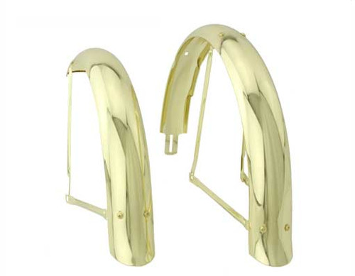 "Lowrider 20"" Gold Steel Flared Set Fenders"