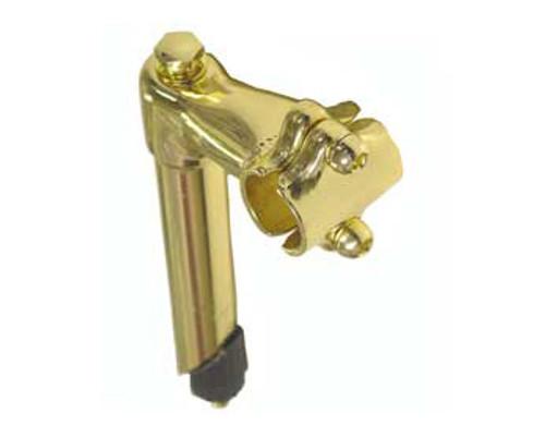 Lowrider Gold Steel L-Shaped  Goosenecks 22.2 mm