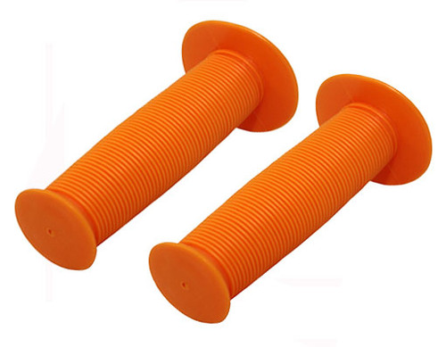 Fixed Gear Orange Rubber Mushroom  Grips