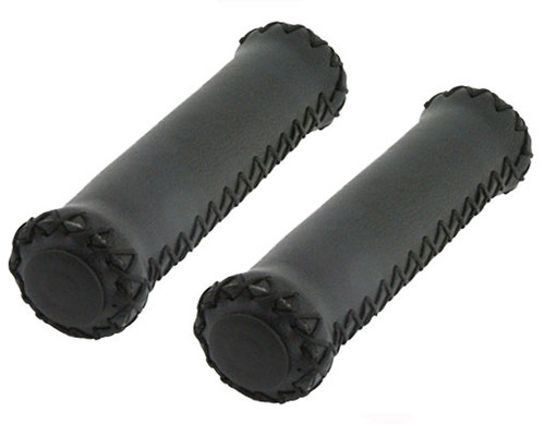 Cruiser Black Leather Custom Grips