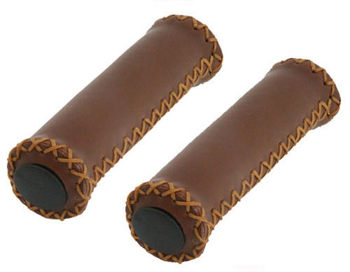 Cruiser Brown Leather Custom Grips
