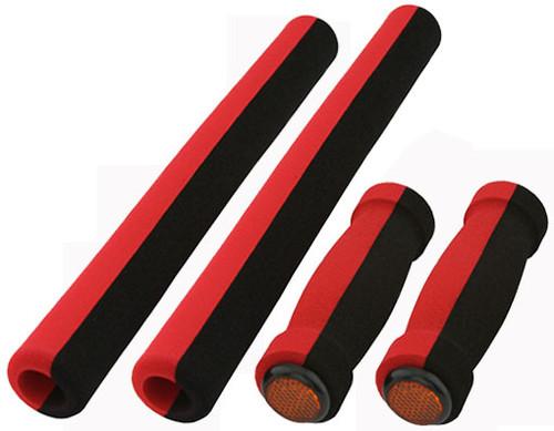 Cruiser Black/Red Foam 4-Piece Set Grips