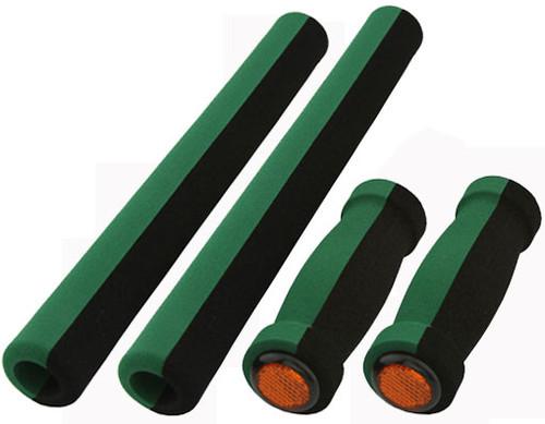 Cruiser Black/Green Foam 4-Piece Set Grips