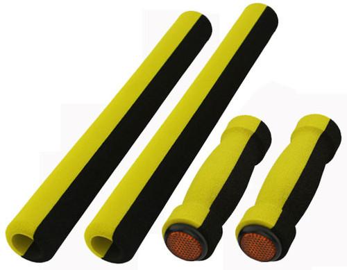 Cruiser Black/Yellow Foam 4-Piece Set Grips