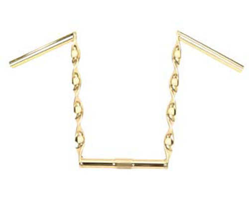 """Lowrider Gold Steel Flat Twisted Handle Bars 15"""""""
