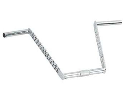 "Lowrider Chrome Steel Triple Twisted Handle Bars 12"" Long 25.4mm Dia"