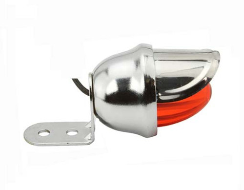 Lowrider Chrome Steel Mini Bee W/Red Reflectors Lights