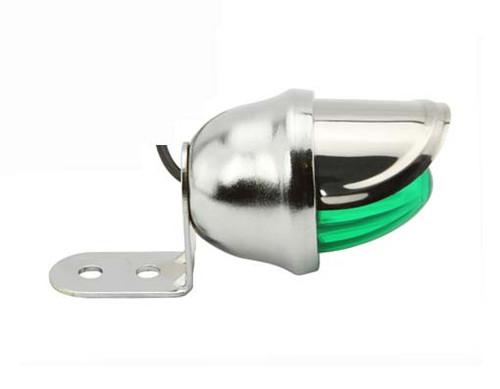 Lowrider Chrome Steel Mini Bee W/Green Reflectors Lights