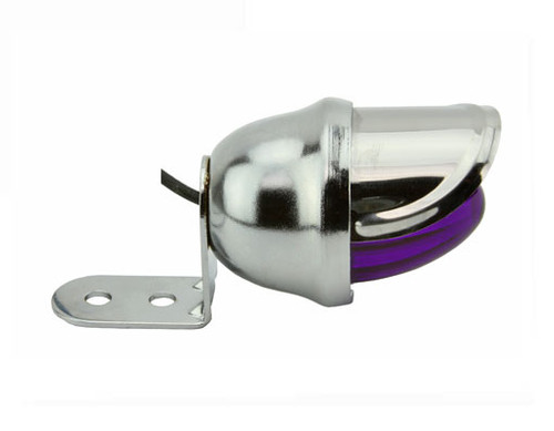 Lowrider Chrome Steel Mini Bee W/Purple Reflectors Lights