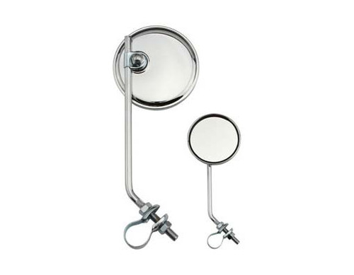 Lowrider Chrome Steel Round Mirrors