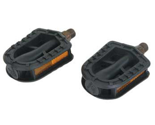 """Cruiser Black Plastic 203 Stamper Pedals 1/2"""""""