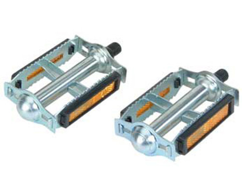 Cruiser Chrome Steel & Plastic 616 Pedals 1/2""