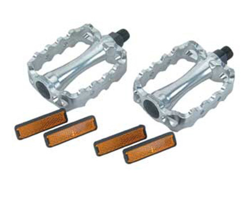 Chopper Chrome Steel & Aluminum 468 Pedals 9/16""