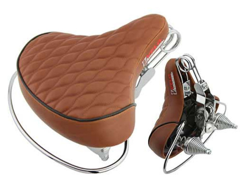 Cruiser Brown Vinyl Diamond Vello Web Seats