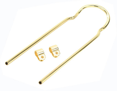 "Lowrider 20"" Gold Steel With Clamps Sissy Bars 22"""