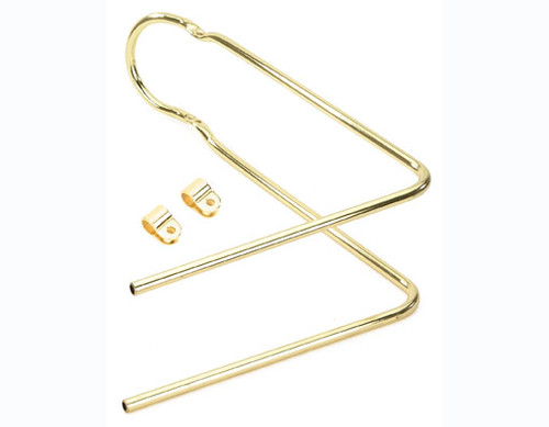 "Lowrider 20"" Gold Steel 90 Bent With Clamps Sissy Bars 22"""