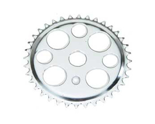 "Lowrider 20"" Chrome Steel Lucky 7 W/Logo Sprockets 36 Teeth 1/2 X 1/8"