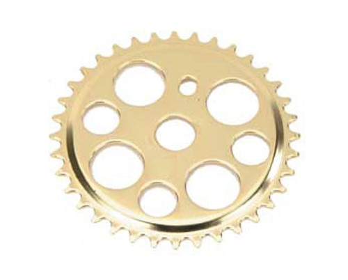 "Lowrider 20"" Gold Steel Lucky 7 Sprockets 36 Teeth 1/2 X 1/8"