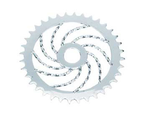 "Lowrider 20"" Chrome Steel Twisted Sprockets 36 Teeth 1/2 X 1/8"