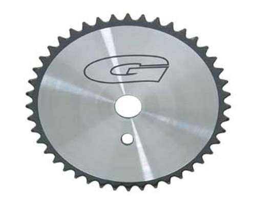 "BMX 26"" Black/Chrome Steel G 44 Sprockets 44 Teeth 1/2 X 1/8"