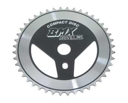 "BMX 26"" Black/Chrome Steel Drive Line Sprockets 44 Teeth 1/2 X 1/8"