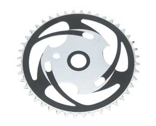 "BMX 26"" Black/Chrome Steel Js77 Sprockets 44 Teeth 1/2 X 1/8"