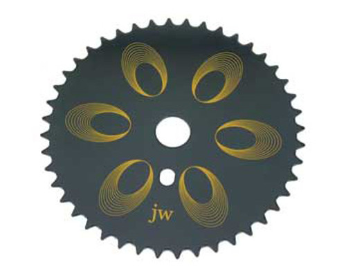 "BMX 26"" Black Steel Jw Sprockets 44 Teeth 1/2 X 1/8"