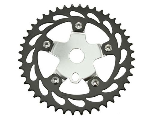 "Chopper 26"" Black/Chrome Steel 913 Sprockets 44t 1/2x1/8"
