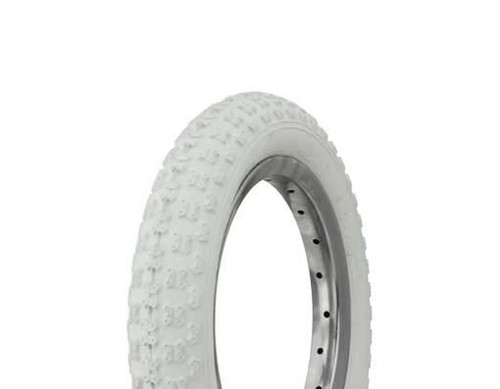 "Kids Bicycle 12"" White Rubber Duro White Wall HF-143G. Tires 12 1/2"" x 2 1/4"""