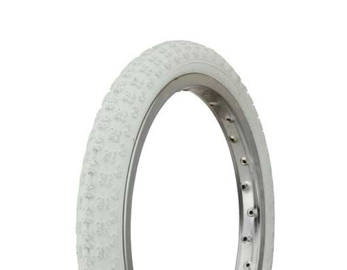 "BMX 16"" White Rubber Duro White Wall HF-143G.  Tires 16"" x 1.75"""
