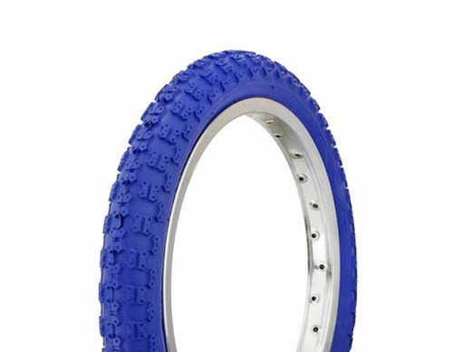 "BMX 16"" Blue Rubber Duro Blue Wall HF-143G. Tires 16"" x 2.125"""