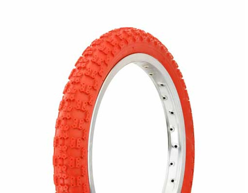 "BMX 16"" Red Rubber Duro Red Wall HF-143G. Tires 16"" x 2.125"""