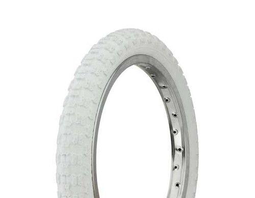 "BMX 16"" White Rubber Duro White Wall HF-143G. Tires 16"" x 2.125"""
