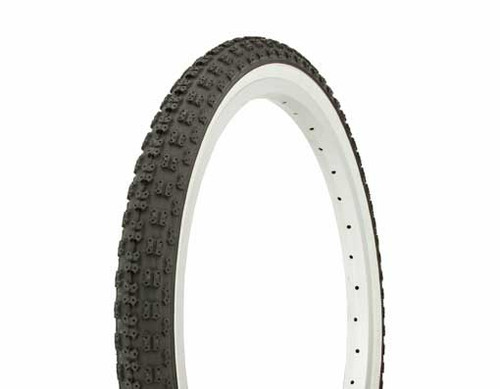 "Lowrider 20"" Black Rubber Duro White Wall HF-143G.  Tires 20"" x 1.75"""