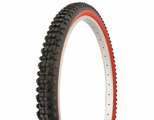 "Cruiser 26"" Black Rubber Duro Red Wall HF-107.  Tires 26"" x 2.10"""