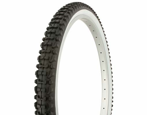 "Cruiser 26"" Black Rubber Duro White Wall HF-107.  Tires 26"" x 2.10"""