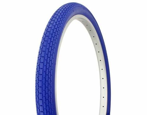 """Cruiser 26"""" Blue Rubber Duro Blue Wall HF-120A.  Tires 26"""" x 2.125"""""""