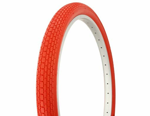 "Cruiser 26"" Red Rubber Duro Red Wall HF-120A.  Tires 26"" x 2.125"""