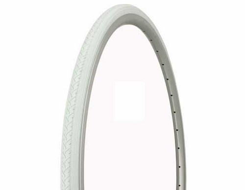 Fixed Gear 700cc White Rubber Duro White Wall HF-187.  Tires 700 x 25c