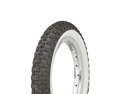 "Kids Bicycle 12"" Black Rubber Duro White Wall HF-143G. White Wall Tires 12 1/2"" x 2 1/4"""