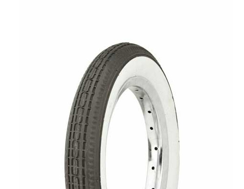 """Kids Bicycle 12"""" Black Rubber Duro White Wall HF-180. White Wall Tires 12 1/2"""" x 2 1/4"""""""