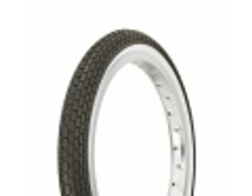 "Lowrider 16"" Black Rubber Duro White Wall HF-120A.  White Wall Tires 16"" x 1.75"""