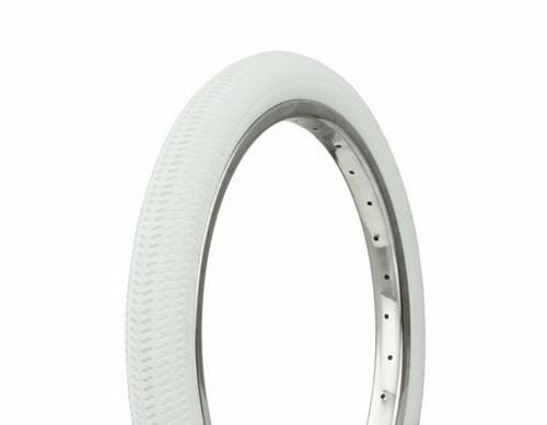"BMX 18"" White Rubber Duro DB-5031 W/White Side Wall White Wall Tires 18"" x 1.95"""