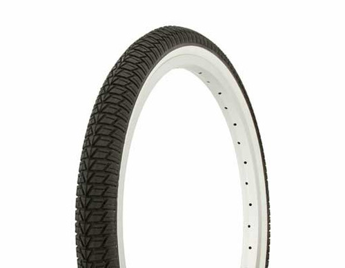 "Lowrider 20"" Black Rubber Duro White Wall HF-864.  White Wall Tires 20"" x 1.75"""