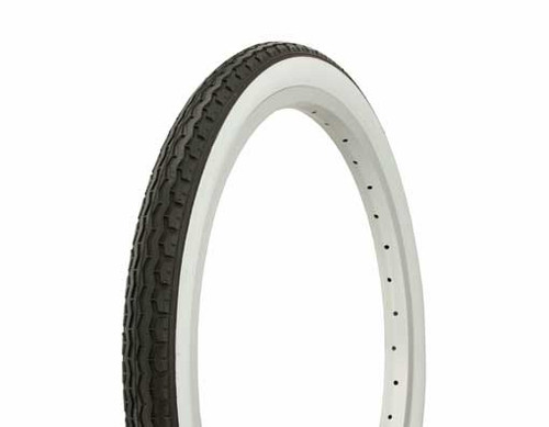 "Lowrider 20"" Black Rubber Duro White Wall HF-160A.  White Wall Tires 20"" x 1.75"""