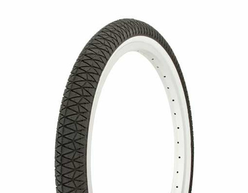 "Lowrider 20"" Black Rubber Duro White Wall HF-884.  White Wall Tires 20"" x 1.95"""